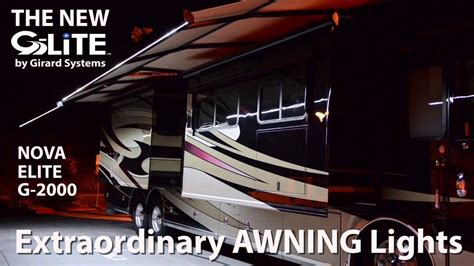 girard awnings g lite rv awning lights by girard system g lite accessory for girard awnings youtube