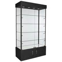 lighted display shelves retail merchandise jewelry glass tower display
