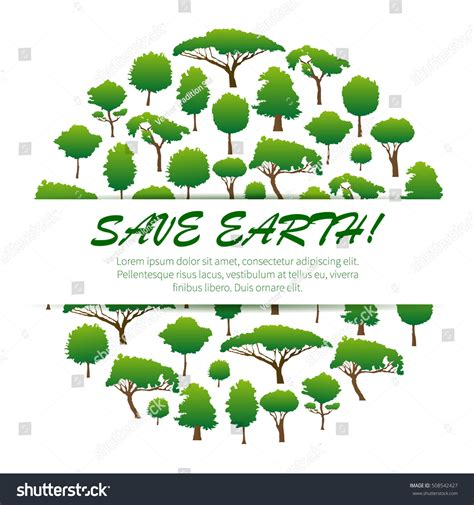 conservation through green building design earth habitat save earth environmental banner placard poster 스톡 벡터
