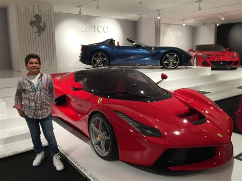 museum italy a kid s on luxury cars