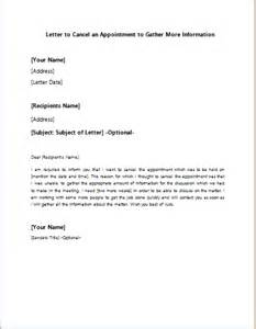Appointment Letter Cancellation Sample cancellation letter appointment sample cancellation visit letter