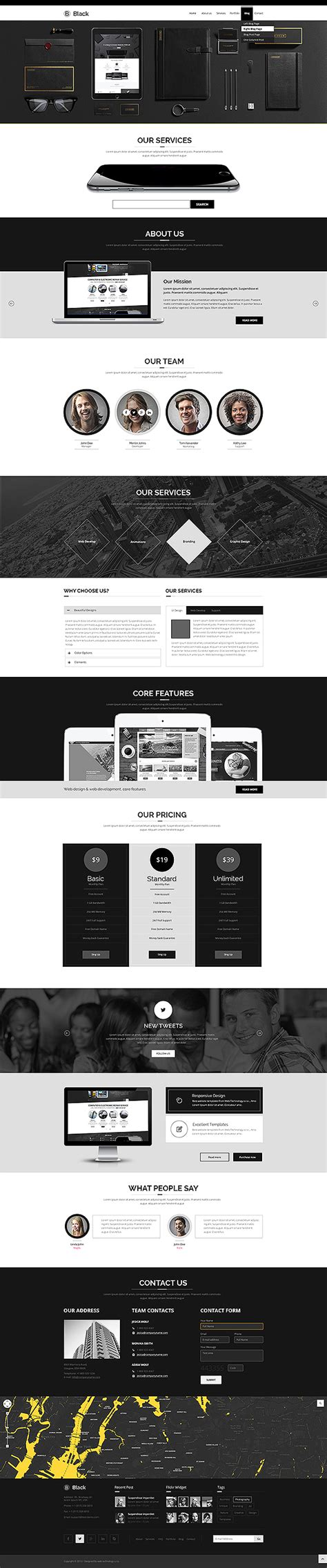 bootstrap theme free black color bootstrap theme gridgum