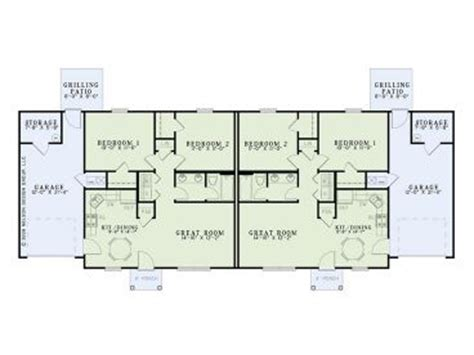one story duplex house plans duplex house plans one story duplex plan 025m 0081 at