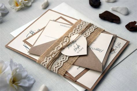 Simple Unique Wedding Invitations by Rustic Lace Wedding Invitation Kit Autumn Wedding