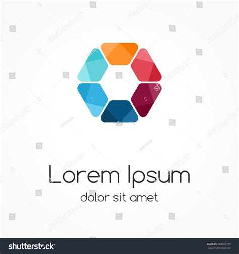 Vector Color Logo Hexagon Template Modern Stock Vector 283494779 Shutterstock Modern Logo Template
