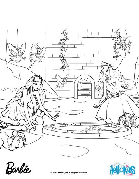 ideas  barbie coloring pages  pinterest