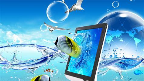 live themes laptop blue sea design laptop wallpapers cool laptop wallpapers