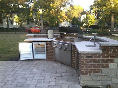 Backyard Grill Chicago Il by Brick Patio For Grill Modern Patio