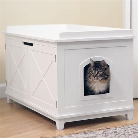 cat washroom bench litter box enclosure boomer george hton cat washroom box litter boxes at