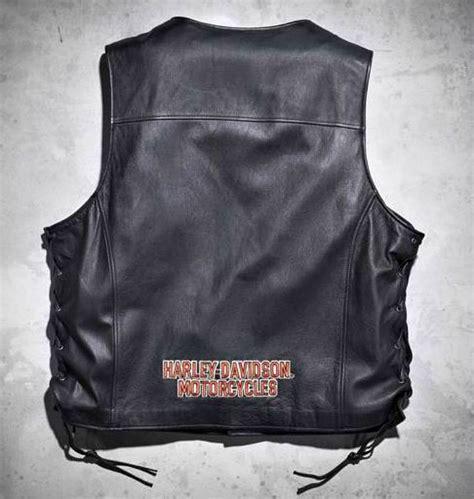 Jaket Vest Rompi Harley Davidson 02 harley davidson mens pathway lace up leather vest