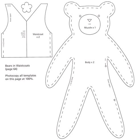sewing templates free bears to sew from felt canadian living