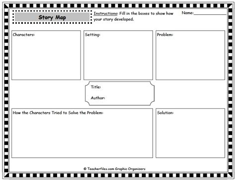 printable narrative organizer teacher files story retell and graphic organizers free