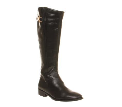 office napoleon knee boots black leather knee boots