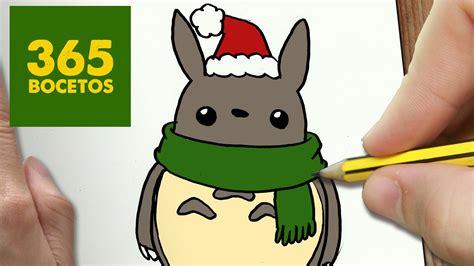 imagenes de totoro kawaii como dibujar un totoro para navidad paso a paso dibujos