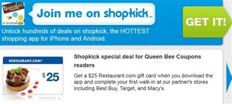 Target Mobile App Gift Card - shopkick app free 25 restaurant com gift card extra target mobile coupons more