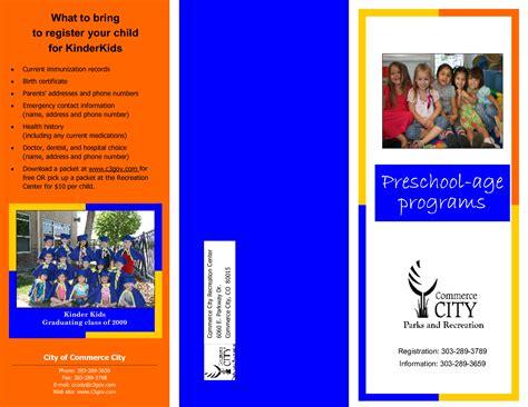nursery brochure templates free 13 best photos of leaflet design for preschool border