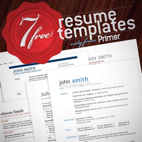 7 free resume templates 7 free resume templates primer