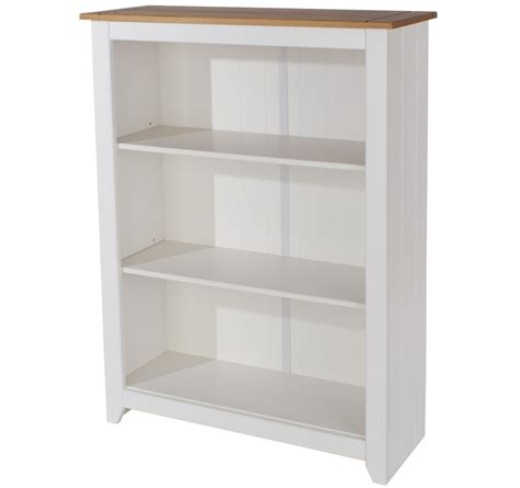 Abdabs Furniture Capri White Low Bookcase Bookcase White
