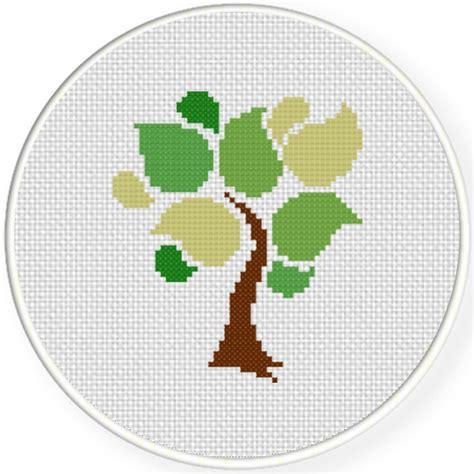 abstract tree cross stitch pattern daily cross stitch