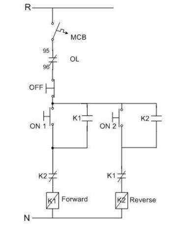 turning round phase induction motors forward / reverse