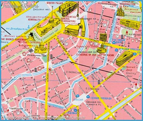 st tourist map st petersburg map tourist attractions travelsfinders
