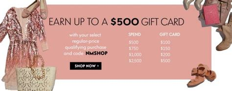 Neiman Marcus Promotional Gift Card - 500 gift card giveaway at neiman marcus nerdwallet
