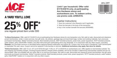 Ace Hardware Voucher | ace hardware coupons printable coupons in store retail