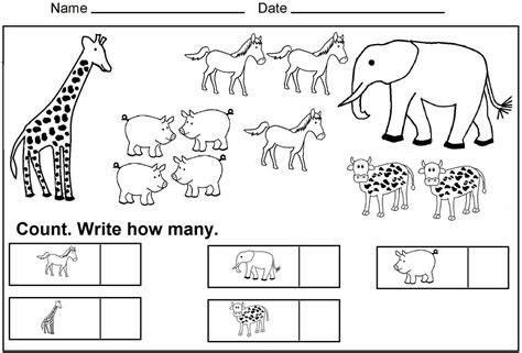 preschool exercise coloring pages printable kindergarten counting worksheets coloring sheets