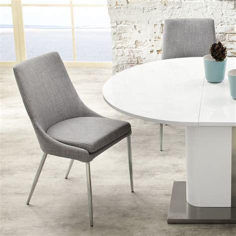 esszimmerstuhl grau leder esszimmerstuhl stuhl alia stoff grau gestell chrom