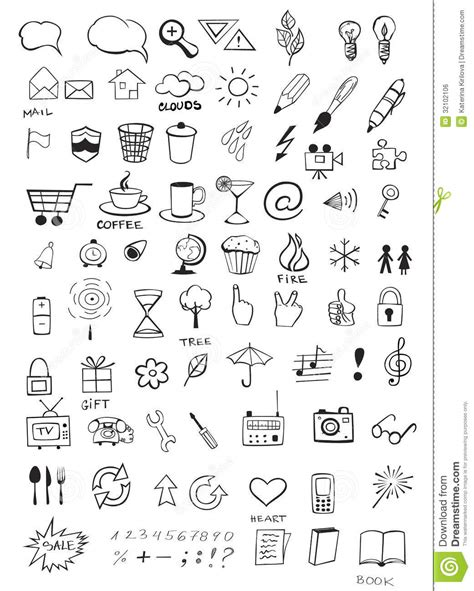 how to create a free doodle doodle icons royalty free stock image image 32102106