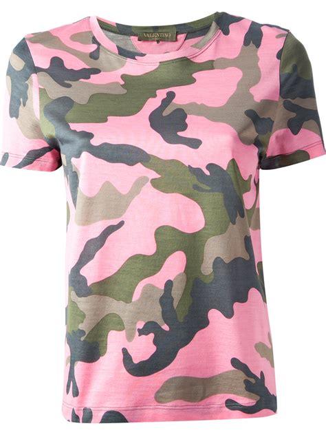 lyst valentino camouflage print  shirt  pink
