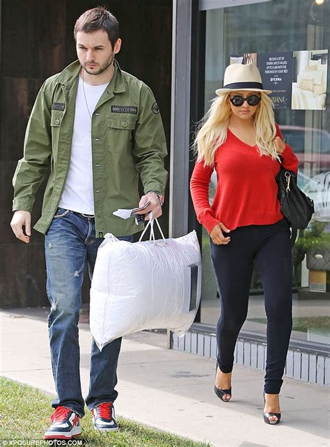 mat and may shopping aguilera shows slimmed figure as