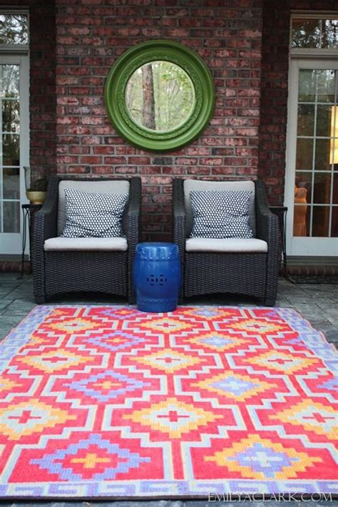 Colorful Outdoor Rug Outdoor Space With Colorful Rug Outdoor Pinterest