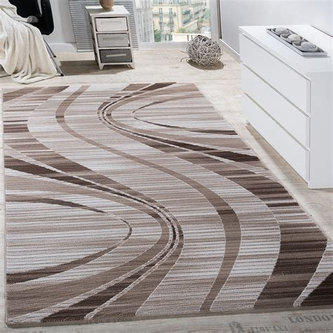 design teppiche teppich wohnzimmer wellen abstrakt beige creme design teppiche