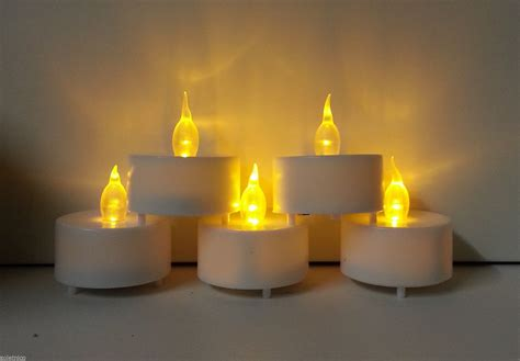 finte candele set 6 candele fiamma effetto fiamma lumini led decorative