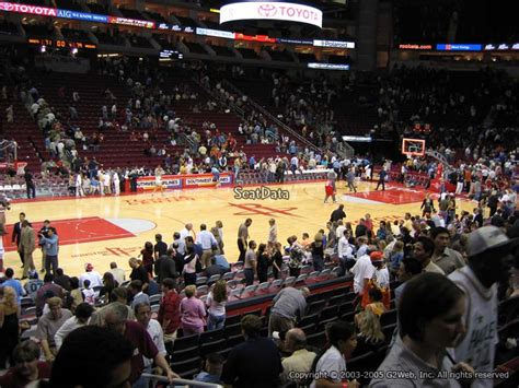 Best Seats At Toyota Center Toyota Center Section 109 Houston Rockets