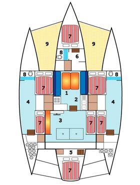 trimaran inside piver trimaran 48 charter catamarans sailing bareboat