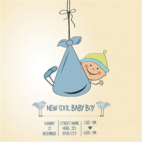 Baby Boy Shower Pictures by Baby Shower Boy Card Vector Free