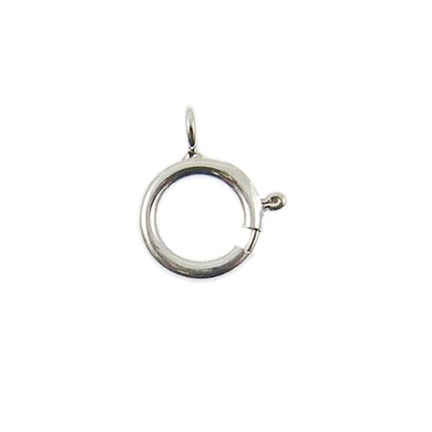 wholesale sterling silver 6mm bolt ring clasp with 3mm