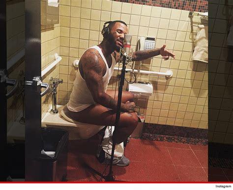 bathroom rap the game my new album s gone to pot photo tmz com