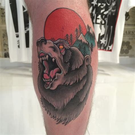 traditional bear tattoo 1000 ideas about traditional on