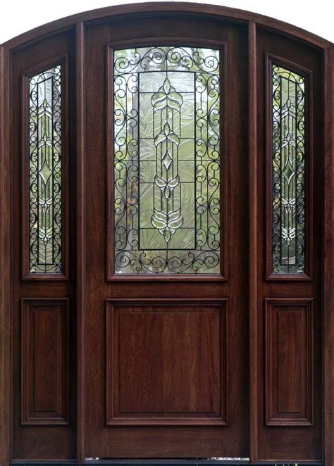 Wood Exterior Doors With Glass Marceladick Com Wood Glass Exterior Doors