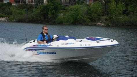 seadoo boat review 1997 sea doo sportboat sportster tested reviewed on