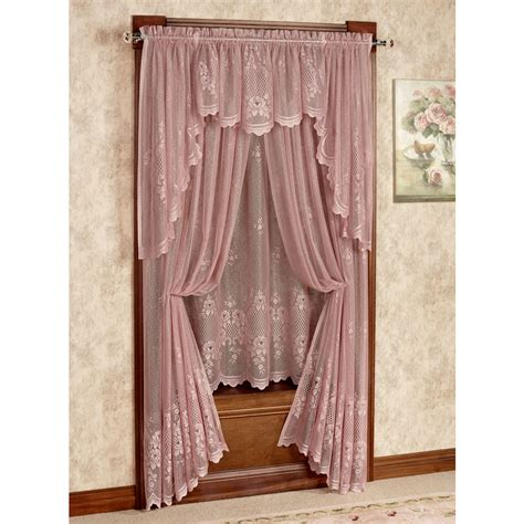 victorian door curtain cameo rose victorian rose lace window treatment