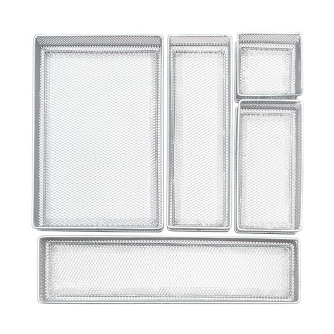Mesh Kitchen Drawer Organizer Silver Mesh Drawer Organizer Set The Container Store