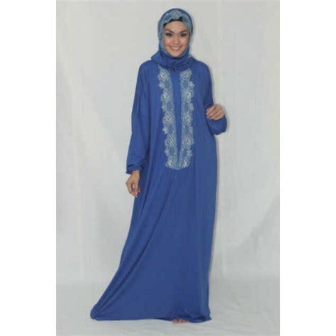 Mukena Biru nazlia mukena biru baju muslim gamis modern