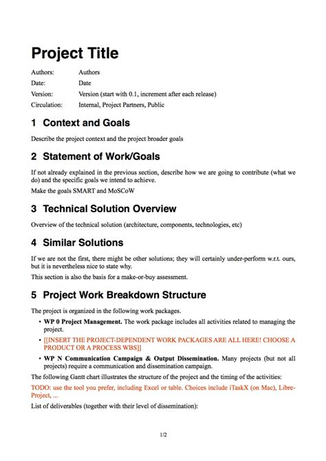 software project proposal template 5 best agenda templates