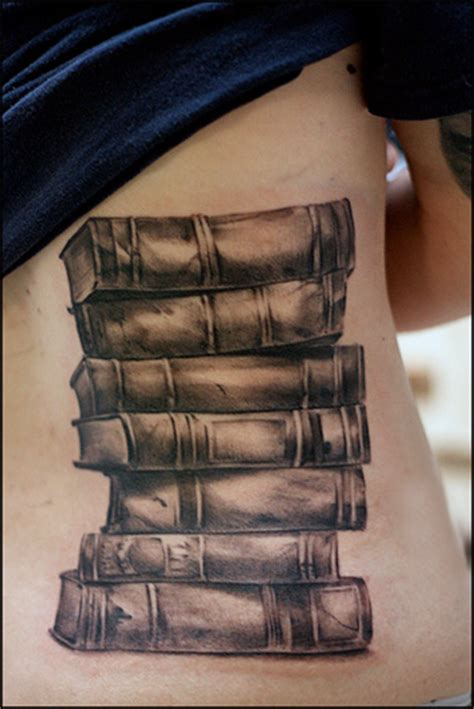 stack of books tattoo 10 of the coolest book related tattoos quirk books