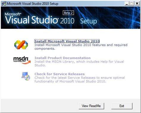 visual studio installer tutorial 2010 183 click installmicrosoft visual studio 2010 link to run