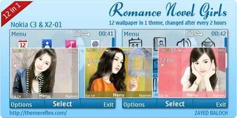 nokia girl themes com romance novel girls theme for nokia x2 01 c3 themereflex